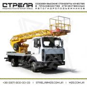 Aerial platform AP-18, conversion into an auto-hydraulic chassis lift