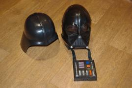Darth Vader helmet, modulates your voice