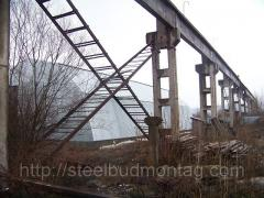Frame of the Angara river from the manufacturer. Installation of steel structures