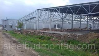 Installation of metal structures, prefabricated structures