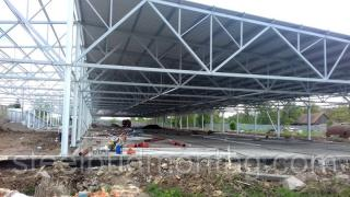 Installation of steel structures. Construction of hangars