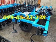 Культиватор КГШ-4 +4 ряди стрілчастих лап,3 ряду зубових борін і