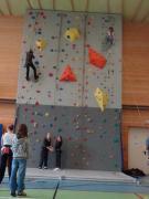 Training climbing wall